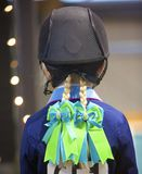 Rider in Ribbons Stock Photo