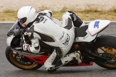 Rider Robert Queral. MC Roquetes Team. Stock Photography