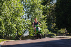 Rider Scooter Bike Royalty Free Stock Photos