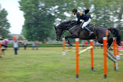 Rider show jumping Stock Images