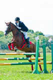 Rider show jumps Stock Photography