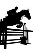 Rider silhouette Royalty Free Stock Photography