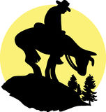 Rider Silhouette Royalty Free Stock Photo