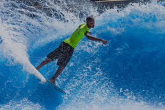 Surfer Skill Spray Wave-Pool Stock Photography