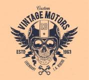 Rider Skull Print Royalty Free Stock Photos