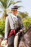 Rider Smilng fêmea Fotografia de Stock Royalty Free