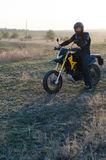 Rider on sport bike for enduro Stock Photography