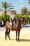 Rider Standing Still Imagem de Stock Royalty Free