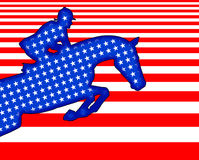 Rider U S flag Royalty Free Stock Images