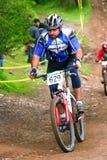 Rider uphill Stock Image