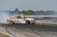 Rider V. Borovitsky  on the car brand BMW   makes a mistake on t Royalty Free Stock Photos