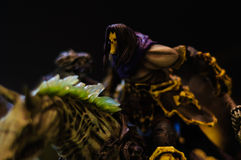 Rider Villain Figurine malvado Fotografía de archivo libre de regalías