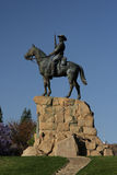 The Rider in Windhoek. The Rider, a monument in Windhoek in remembrance of the wars in the early 20th century stock photography
