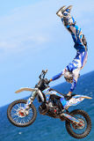 Rider Xavi Dols. FMX Freestyle.Extreme Barcelona Royalty Free Stock Image