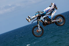 Rider Xavi Dols. FMX Freestyle.Extreme Barcelona Royalty Free Stock Images