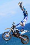 Rider Xavi Dols FMX-fristil Extrema Barcelona Royaltyfri Bild