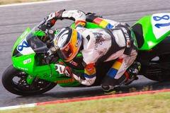 Rider Xavier Cardelus. MC Pirineu Team. Royalty Free Stock Photos
