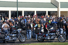 Riders in Annual Trail of Tears Motocycle Ride Royalty Free Stock Photos