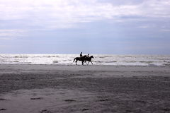 Riders on the beach Stock Photography