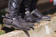 Riders Boots Spurs Royalty Free Stock Photography