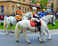 Riders during Brasov Juni parade Stock Photography