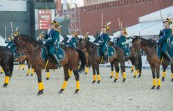 Riders of cavalry honorary escort of Presidential Regiment Stock Photography