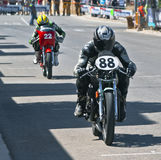 Riders of classic motorbikes Stock Photo