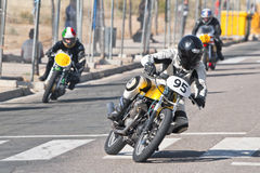Riders of classic motorbikes Royalty Free Stock Images