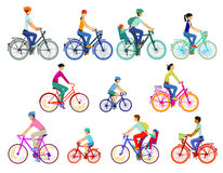 Riders on eleven bikes Stock Images