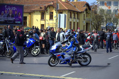 Riders gathering Royalty Free Stock Images