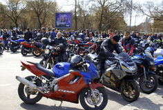 Riders gathering Royalty Free Stock Photo