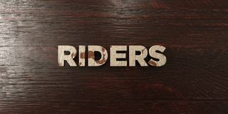 Riders - grungy wooden headline on Maple  - 3D rendered royalty free stock image Royalty Free Stock Photography