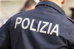 Riders of the Italian police Stock Photo