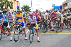 Riders lineup at LTDL Stage 7 Starting Point Royalty Free Stock Photos