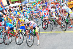 Riders lineup at LTDL Stage 7 Starting Point Stock Images