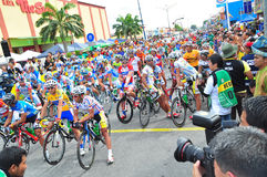 Riders lineup at LTDL Stage 7 Starting Point Royalty Free Stock Image