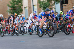 riders make their way to the finish Royalty Free Stock Images