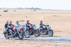 Riders on motorcycles Royalty Free Stock Photography