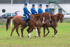 Riders from the mounted guard riding in formations Stock Image