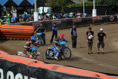 Riders preparing for start Royalty Free Stock Photo