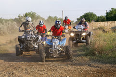 Riders on quad bikes Royalty Free Stock Photo