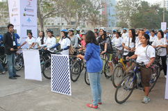 Riders ready to start at the Republic day ride 2013 Royalty Free Stock Images