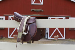 Riders Saddle Royalty Free Stock Photo