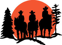Riders Silhouette Royalty Free Stock Image