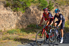 Team Sky And Team BMC Riders La Vuelta España Stock Photography