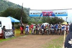 Riders on start Royalty Free Stock Photo