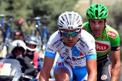 Riders in the 2014 Tour d'Azerbaijan Royalty Free Stock Photo