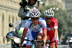 Riders in the 2014 Tour d'Azerbaijan Stock Photography