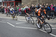 Riders  Tour de Yorkshire cycle race York Stock Photo