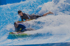 Riders Two Wave Pool Royalty Free Stock Photography